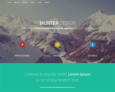 templates scroll page bootstrap munter bootstrap one page template