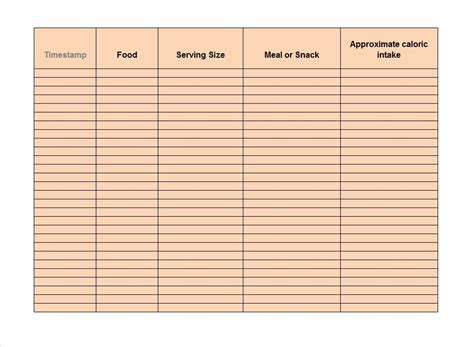 free food journal template 40 simple food diary templates food log examples