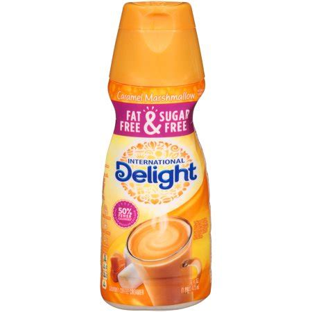 It makes the perfect addition to any office or home. International Delight Fat-Free & Sugar-Free Caramel Marshmallow Coffee Creamer, 1 Pint - Walmart.com