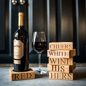 red wine bottle stand by marquis & dawe   notonthehighstreet.com