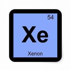 Xe - Xenon Chemistry Periodic Table Symbol Square Sticker