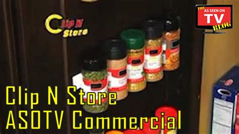 As Seen On Tv Spice Rack Reviews by Clip N Store As Seen On Tv Commercial Buy Clip N Store As
