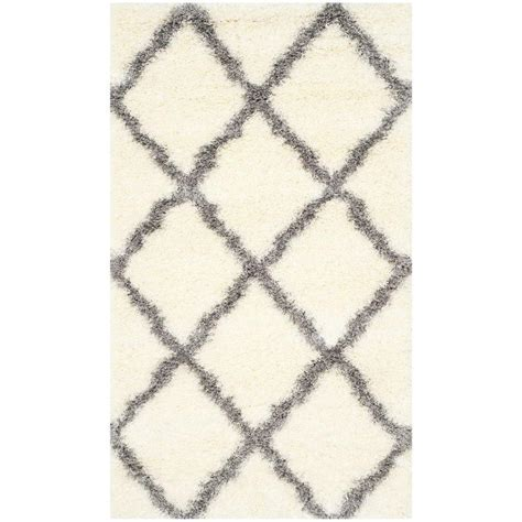 Safavieh Montreal Shag Ivory/Grey 3 ft. x 5 ft. Area Rug