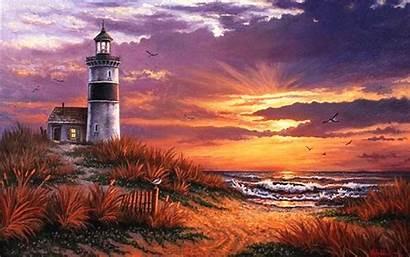 Sunset Kyle Beach Wood Ocean Wallpapers Bay