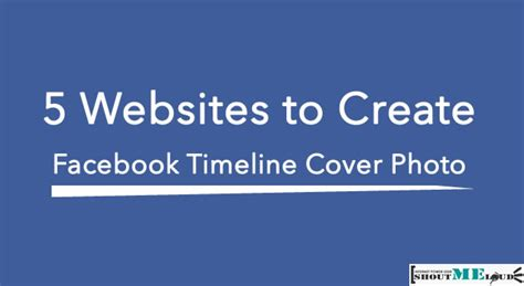 Make Online Cover Photo 3 websites to create facebook timeline cover photo