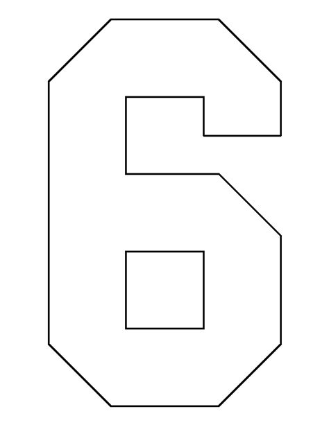 number  pattern   printable outline  crafts