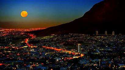 Africa Cape Town South Lights Moonlighted Wallpapers