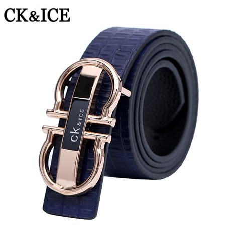Gold Buckle Belt Brand Designer Mens Belt Luxury Cowhide