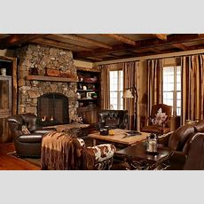 Brown Leather Sofa For Country Style Living Room