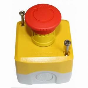 Bouton Arret D Urgence : boitier arret d 39 urgence gris et jaune avec bouton rouge ~ Nature-et-papiers.com Idées de Décoration