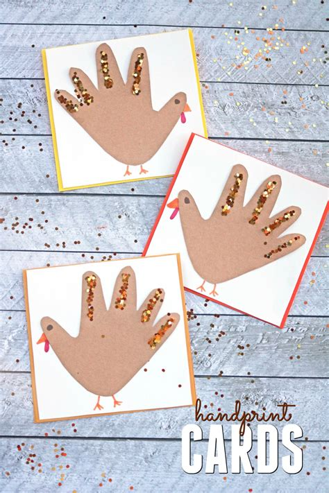 thanksgiving crafts for toddlers handprint turkey cards craft make and takes 5563