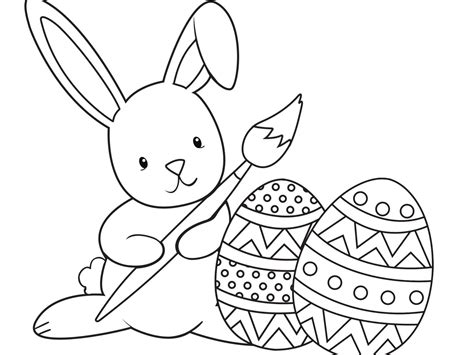 easy easter bunny coloring pages  getcoloringscom  printable colorings pages  print