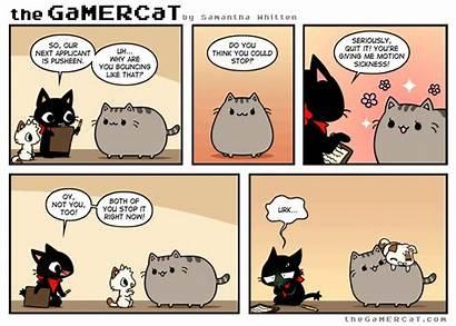 Cat Gamer Comic Comics Pusheen Funny Gamercat