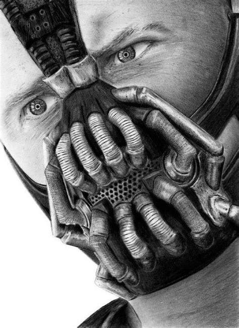 Such an awesome drawing!! | Bane, Batman art, Bane batman