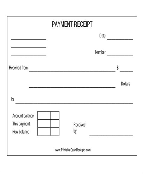 payment receipt acknowledgment   ms word