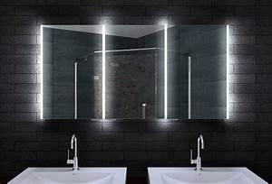 Badezimmer Spiegelschrank Led : bad spiegelschrank mit led beleuchtung drei t ren ~ Indierocktalk.com Haus und Dekorationen