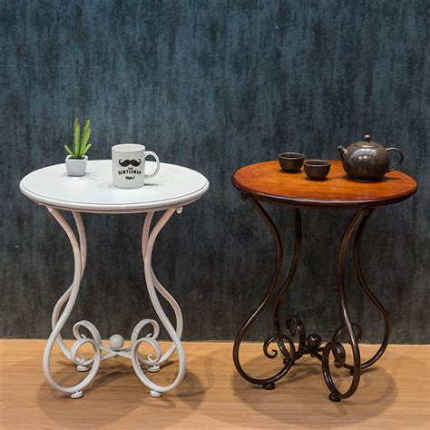 continental iron coffee table small  table living
