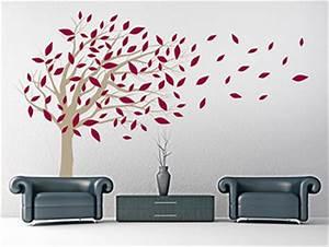 Baum Mit Roten Blättern : wandtattoo baum mit wehenden bl ttern ~ Eleganceandgraceweddings.com Haus und Dekorationen