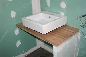 Plan De Travail Salle De Bain Lapeyre : fabriquer meuble salle de bain avec plan de travail ~ Farleysfitness.com Idées de Décoration