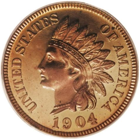 indian pennies 1904 indian head pennies values and prices past sales coinvalues com
