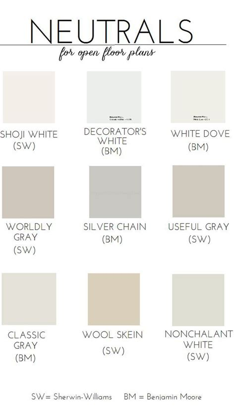 neutral paint colors open floor plan popular paint