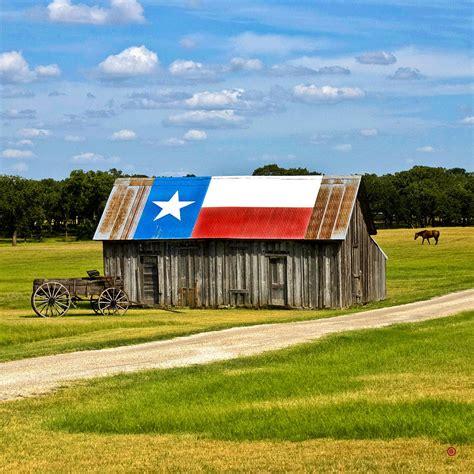 texas barn flag photograph by gary grayson