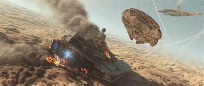 Wars Star Falcon Millennium Background Battlefront Wallpapers