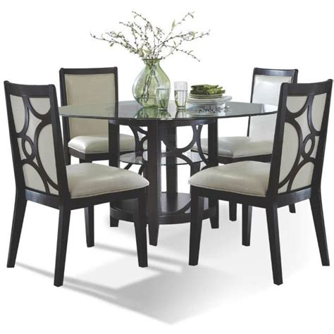 espresso dining room set planet espresso 5 dining set