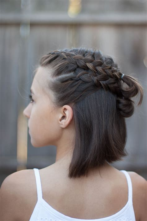 braids  short hair cute girls hairstyles