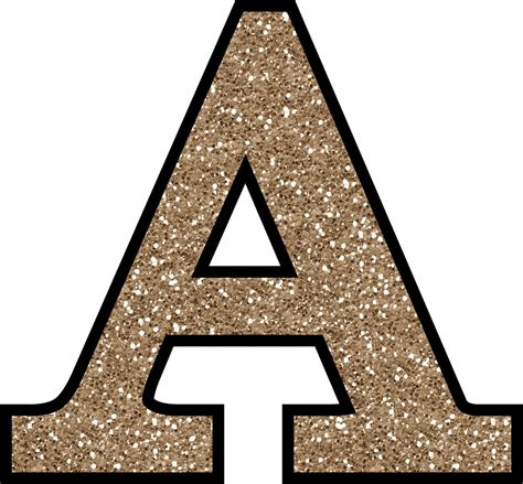 letter a png free glitter alphabet to and print 37457