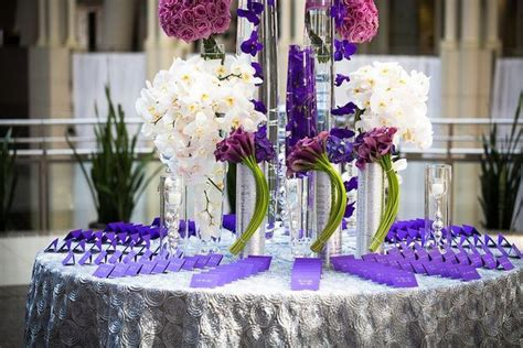 wedding table decor 37 trendy purple wedding table decorations table 1168