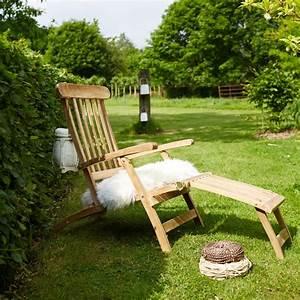 Bois Dessus Bois Dessous : steamer en bois de teck midland chaise longue de jardin ~ Melissatoandfro.com Idées de Décoration