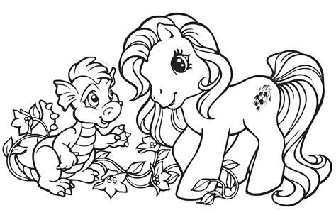 mewarnai gambar lucu kuda   pony mewarnai gambar