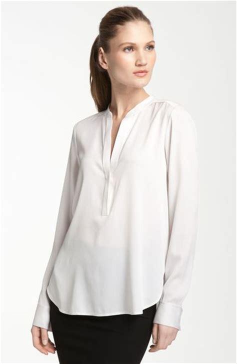 silk white blouse vince oversized silk blouse in white lyst