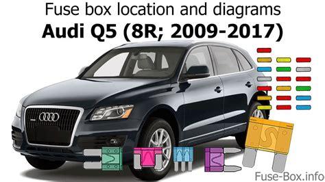 Audi Q5 Fuse Box Diagram by Fuse Box Location And Diagrams Audi Q5 8r 2009 2017