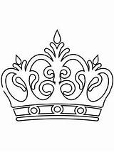 Coloring King Pages Crowns Crown Adults Popular sketch template