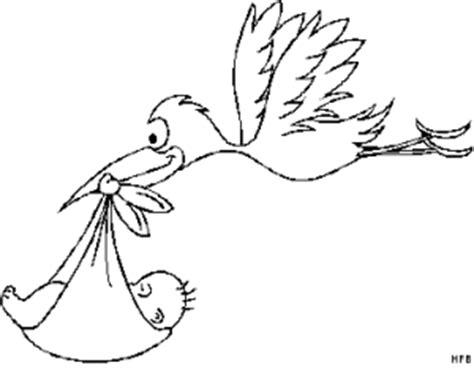 fliegender storch mit baby ausmalbild malvorlage fruehling