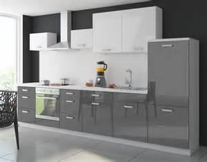küche grau hochglanz küche color 340 cm küchenzeile küchenblock einbauküche in hochglanz grau weiss küchen