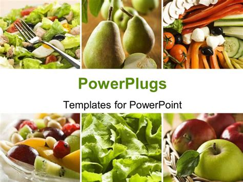 powerpoint template collage   healthy vegetables