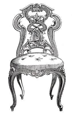 vintage clip art pretty paris tufted chairs