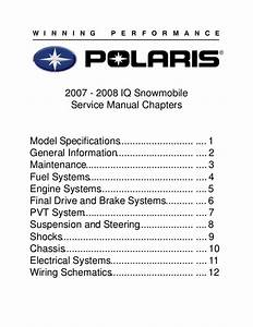 2007 Polaris 600 Ho Rmk Snowmobile Service Repair Manual