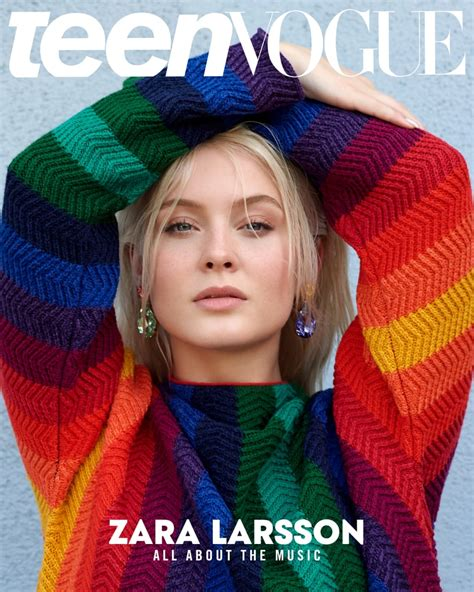 Zara Larsson Talks About Feminism And Trolls In Teen Vogue