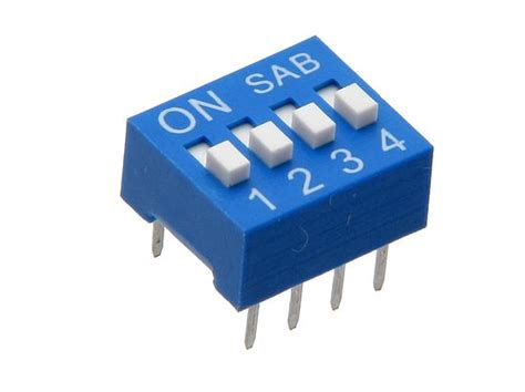 dip switch azul 4 posiciones geekbot electronics