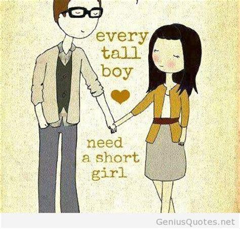 short girls quotes  tall boys