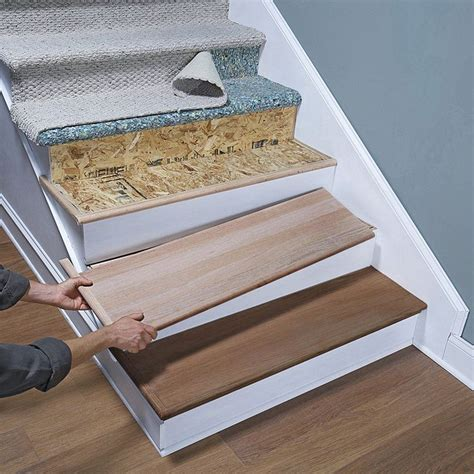 peel and stick carpet tiles for stairs 25 best stair treads ideas on wood stair