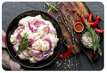 Marinated Shashlik Grill Onion Chili Meats Meat