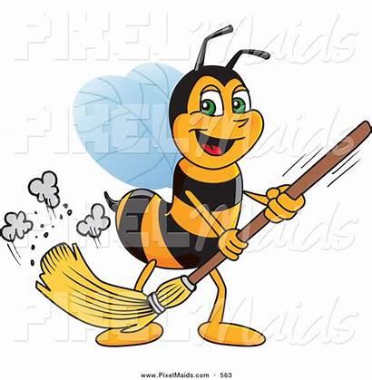 Floor Sweeping Clipart Bee Worker Bees Clip
