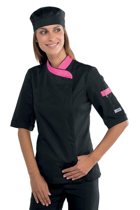 cuisine de femmes veste de cuisine femme manches courtes et