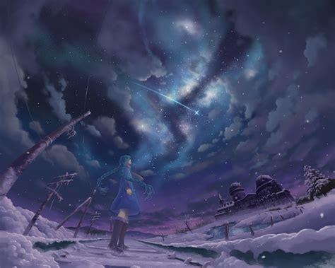Anime Wallpaper Backgrounds - snow shooting winter anime