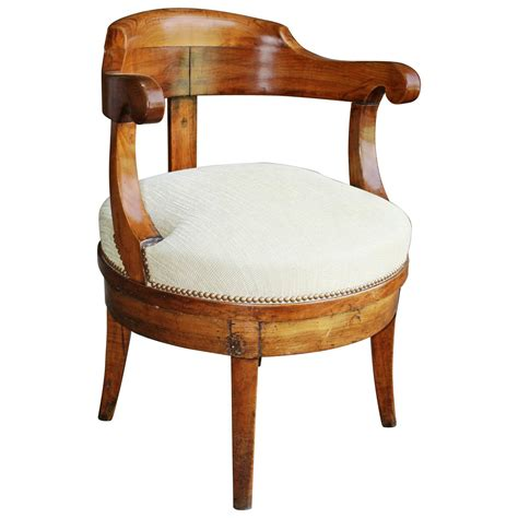 French Empire Revolving Desk Chair For Sale At 1stdibs
